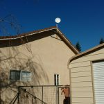 Rural eave antenna mount